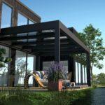 Terrassen Flachdach Cubo - EcoWintergärten